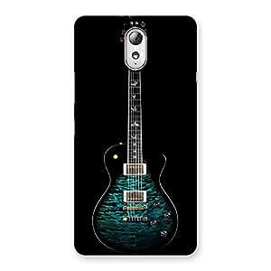 Stylish Greenish Print Guitar Back Case Cover for Lenovo Vibe P1M