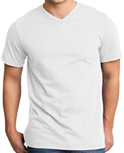 Yoga Clothing For You Mens Modern 100% Cotton V-neck Tee, 3XL White