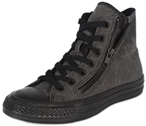 CONVERSE Men's All Star Double Zip Hi (Black Monochrome 12.0 M)
