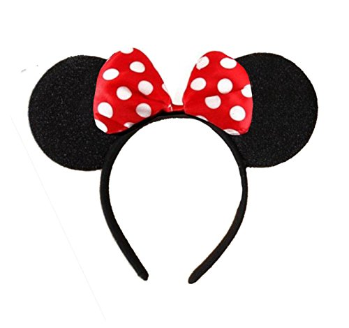rot minnie mouse alice ears ohren schwarz mit rot u. Black Bedroom Furniture Sets. Home Design Ideas