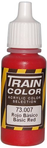Vallejo Train Weathering Basic Red Paint, 17ml