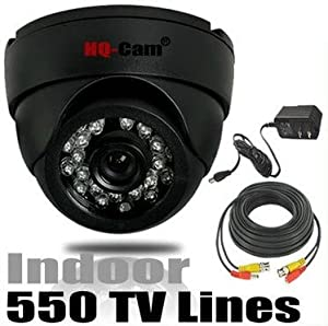 HQ-Cam® Security Surveillance Camera - 550TV Color Lines High Resolution 1/3