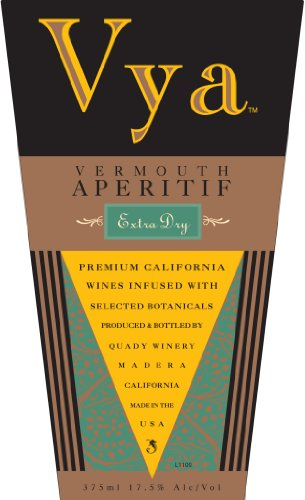 Nv Quady Vya Extra Dry Vermouth Blend - White 375Ml