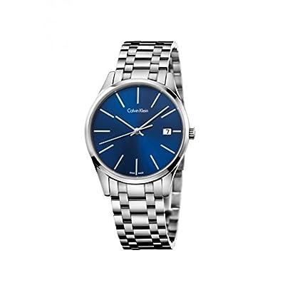 Calvin Klein K4N2114N Blue Dial Stainless Steel Men's Watch