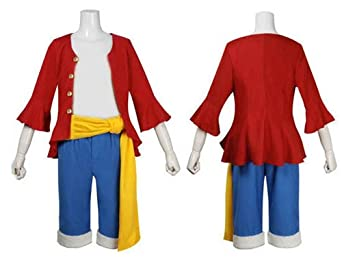 One Piece Monkey D. Luffy 2 Years Later Cosplay Costume,size L by Oriental-beauty
