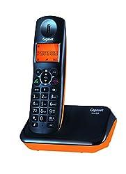 Gigaset A450 Black & orange cordless landline phone