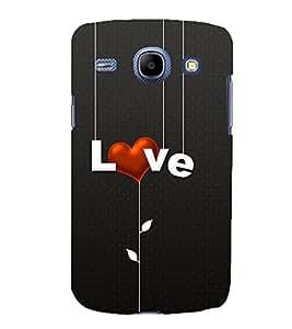 Printvisa Lite Hanging Love Backcover For Samsung Core (White)