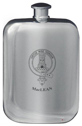 maclean-family-crest-design-pocket-hip-flask-6oz-rounded-polished-pewter