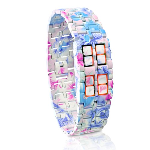 "Led Watch ""Iron Geisha"" - Time, Date, Year"