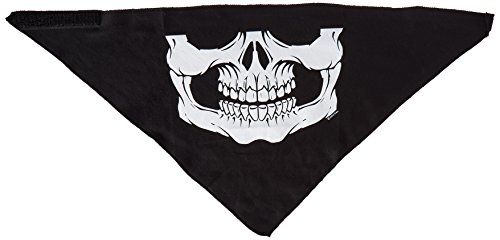 Hot Leathers Skull Face Neck Warmer (Black) (Hot Leathers Face Mask compare prices)