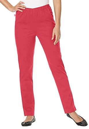 Women's Plus Size Fineline Straight Leg Jean (Antique Strawberry,12 W)