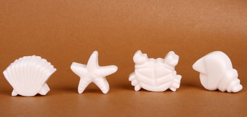 Jade Onlines 8-Cavity Adorable Conch Star Crab Shell Shaped Ice/Cake/Chocolate/Sugar Decorating Silicone Mini Cube Craft Fondant Mold Tray(Send By Random Colour)