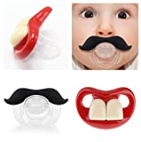 OPCC Baby Funny Dummy Prank Pacifier Novelty Teeth Children Lip Soother Nipple Cute
