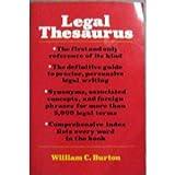 Legal Thesaurus (complete and unabridged) (0026910306) by William C. Burton