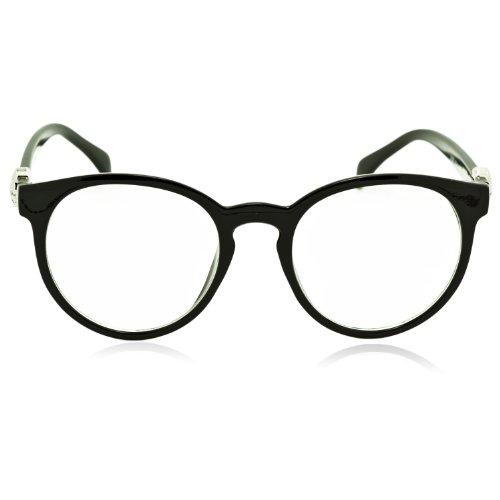 iB-iP Femme Harry Potter Crâne De Style Jambe Effacer Lense Mode Lunettes,  noir b665be03caf