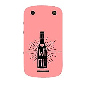 Skin4gadgets Awesome Wine & Dine Quotes, Pattern 22, Color - Cyan Phone Skin for CURVE 9360