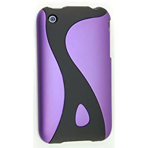 KingCase iPhone 3G & 3GS * Rubberized Slim Slider Twist Case (Purple & Black) 8GB, 16GB, 32GB-