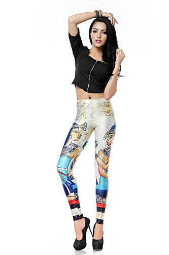 Women's Ancient Egyptian Digital Printed Graphic Stretch Footless Fashion Leggings