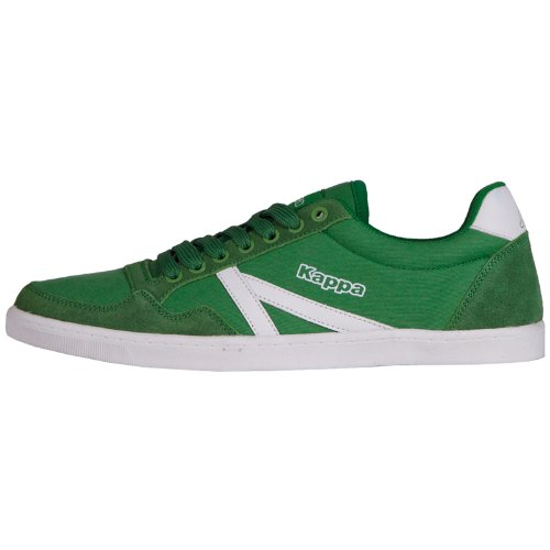 Kappa SEOUL LOW SUN Footwear unisex, Textile/Leather, Sneaker uomo, Verde (Grün (3010 GREEN/WHITE)), 36