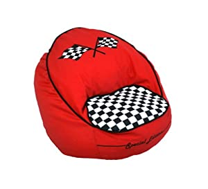 co Kids Race Car Bean Chair, Red from Newco Kids