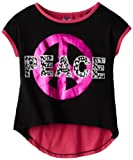 Derek Heart Girl Girls 7-16 High-Low Colorblock Top with Screen Print