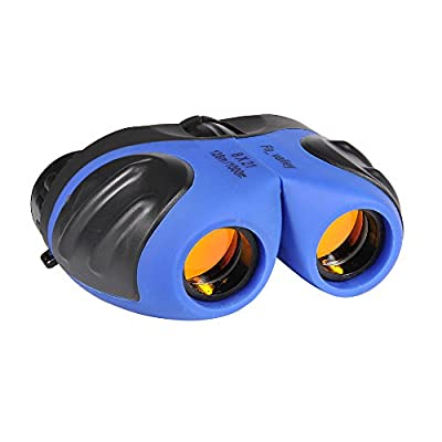 Fa_valley Rubber 8x21 Adjustable Mini Lightweight Binoculars for Kids, Best Christmas Gifts for Children