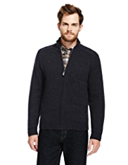 Blue Harbour Pure Lambswool Zip Through Cardigan