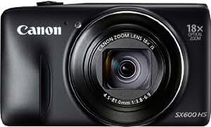 """Canon SX600 HS Appareil photo numérique compact 16 Mpix Écran LCD 3"""" Zoom optique 18X Noir"""