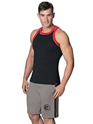 Jockey Men's Cotton Shorts (8901326104750_9414_Large_Grey Melange and Black)