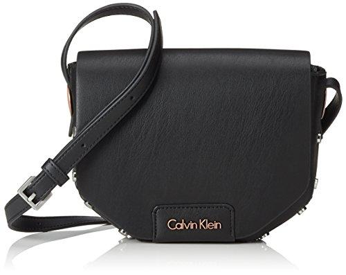Calvin Klein JeansJOLI3 SADDLE BAG - Borsa a tracolla Donna , Nero (Schwarz (BLACK 001 001)), 17x24x7 cm (B x H x T)