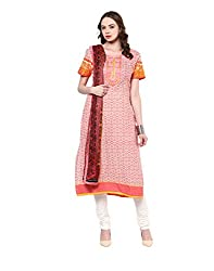 Yepme Women's Pink Blended Semi Stitched Suit - YPMRTS0048_Free Size