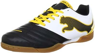 Puma PowerCat 4.12 IT 102485, Herren Sportschuhe - Fußball, Schwarz (black-white-team yellow 05), EU 39 (UK 6) (US 7)