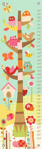 Oopsy Daisy Growth Charts Pretty Tree by Lesley Grainger, 12 by 42-Inch
