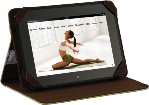 gaiam-custodia-a-libro-e-supporto-regolabile-per-kindle-fire-hd-filigrana-verde