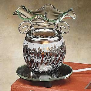 StealStreet SS-A-59205 Electric Oil Burner Collectible Incense Burner, Aromatherapy Decoration