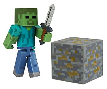 Minecraft Core Zombie Action Figure with Accessory from Minecraft