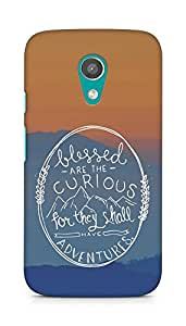 AMEZ Blessed are the curious Back Cover For Motorola Moto G2