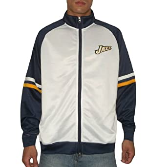 NBA Utah Jazz Mens Warm Up Track Jacket with Embroidered Logo by NBA