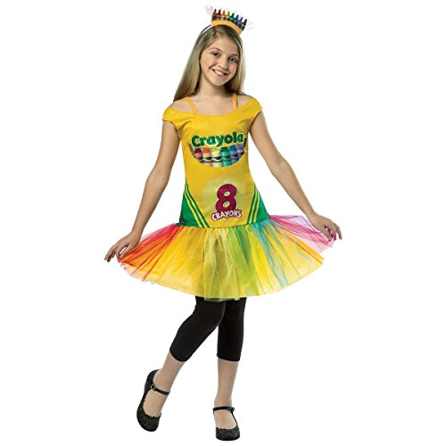 [GSG Crayola Crayon Box Dress Costume Kids Crayola Halloween Fancy Dress] (Red Crayon Tank Dress Costume)