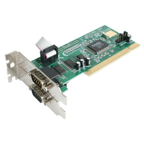 StarTech.com PCI2S550_LP 2-Port PCI Low Profile RS232 Serial Adapter Card with 16550 UART