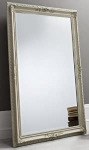 Buckingham extra large fawn grey rectangle full length for Gray full length mirror