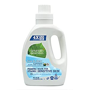 Seventh Generation Liquid Laundry 4x, Free and Clear, 40 Fl Oz