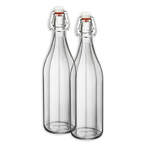 Bormioli Rocco Oxford Bottle, 33.75-ounce, Clear
