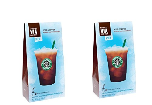 Starbucks Via® Iced Coffee By Starbucks Coffee, 6-count Packages (Pack of 2) (Starbucks Iced Caramel Coffee compare prices)