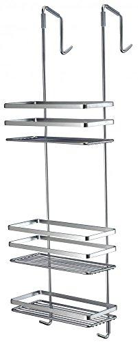 Satina-Chrome-Hanging-Shower-Cubicle-Tidy-Swedish-Made-79cm-by-Norwood
