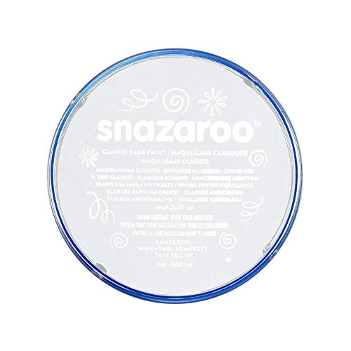 Snazaroo Face and Body Paint, 18 ml - White (Individual Colour)