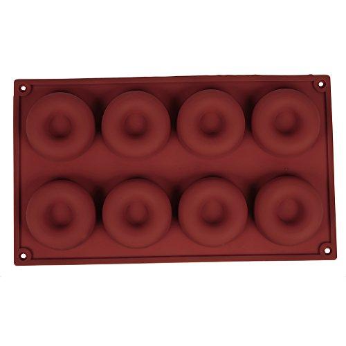 YOKIRIN® Moule à Donut en Silicone Souple avec 8 Modèles Cercles