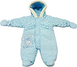 Nursery Time Baby Boys\' Snowsuit With Mittens 0-3 Months Blue