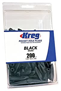 Kreg CAP-BLK-200 Black Plastic Plugs 200-Count
