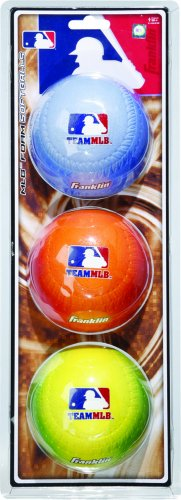 Franklin Sports Team MLB Pack Foam Softballs Gradient